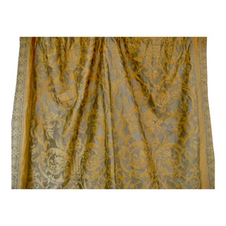 Vintage Mid 20th Century Fortuny Farnese Curtains Drapes - Pair For Sale