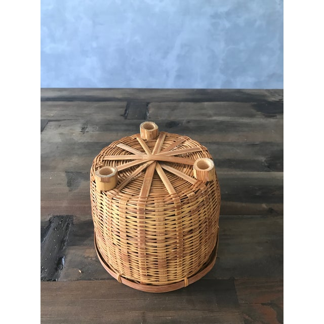 Jungalow Style Small Rattan Basket - Image 3 of 6