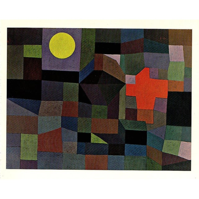 """Paul Klee Vintage 1967 Original Lithograph Print """"Fire at Full Moon"""", 1933 - Image 6 of 7"""