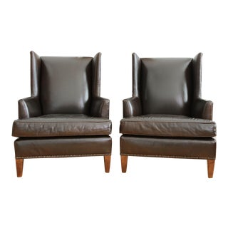Mitchell Gold + Bob Williams Leather Club Chairs - A Pair