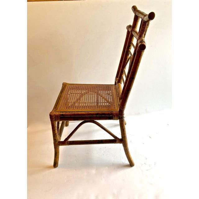Chinoiserie Pagoda-Back Side Chairs, Set of 4 For Sale - Image 4 of 6