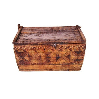 Vintage Rustic Solid Wood Moroccan Trunk Chest Preview