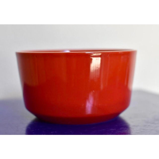 Red Bowl With White Rim - Image 2 of 6