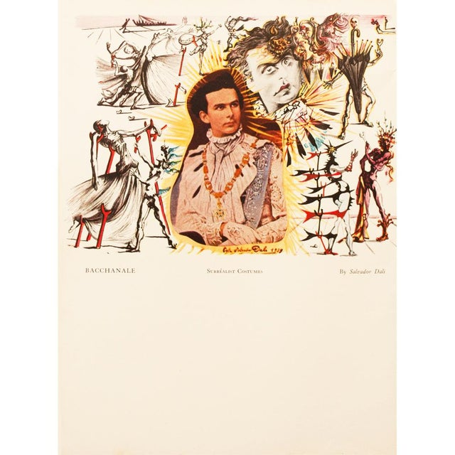 1930s 1939 Salvador Dalí Original Two Sided Lithograph For Sale - Image 5 of 8