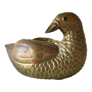Copper and Brass Duck by Sergio Bustamante 1960s For Sale