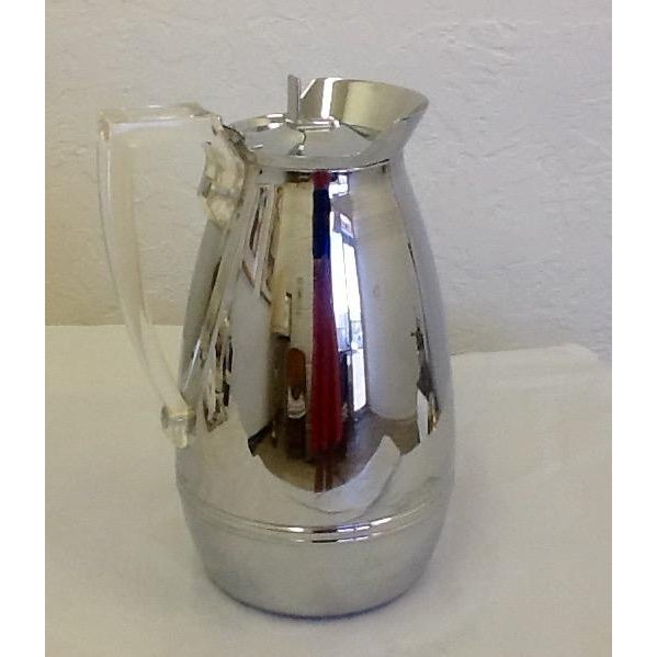 Mid-Century Thermos Silver Color & Lucite Caraffe - Image 2 of 7