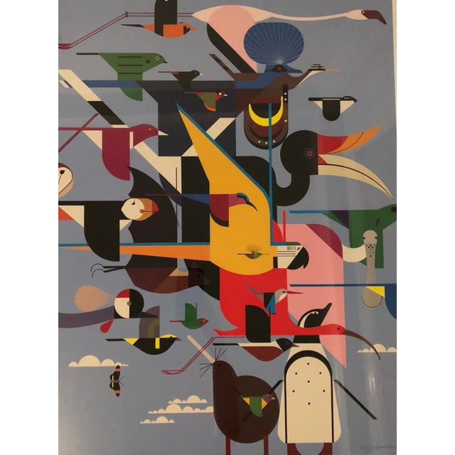 "Charley Harper Framed ""Wings of the World"" Print - Image 3 of 7"