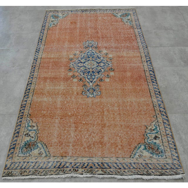 "Turkish Brown Overdyed Hand Knotted Rug - 3'4"" X 6'7"" - Image 5 of 9"