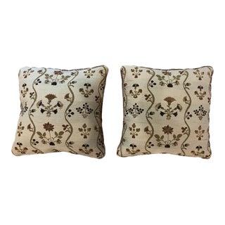 Custom Robert Allen Beacon Hill Fabric Pillows - a Pair For Sale