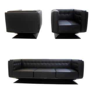 1950s Lounge Set by Luigi Pellegrin for Mim Roma- Set of 3 For Sale