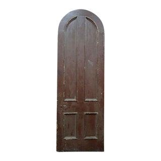 Antique Salvaged Arched Top 4 Panel Door