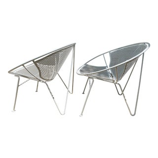 Salterini Hairpin Leg Version of the Radar Lounge Chairs- a Pair For Sale