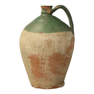 Antique French Pottery Jug For Sale