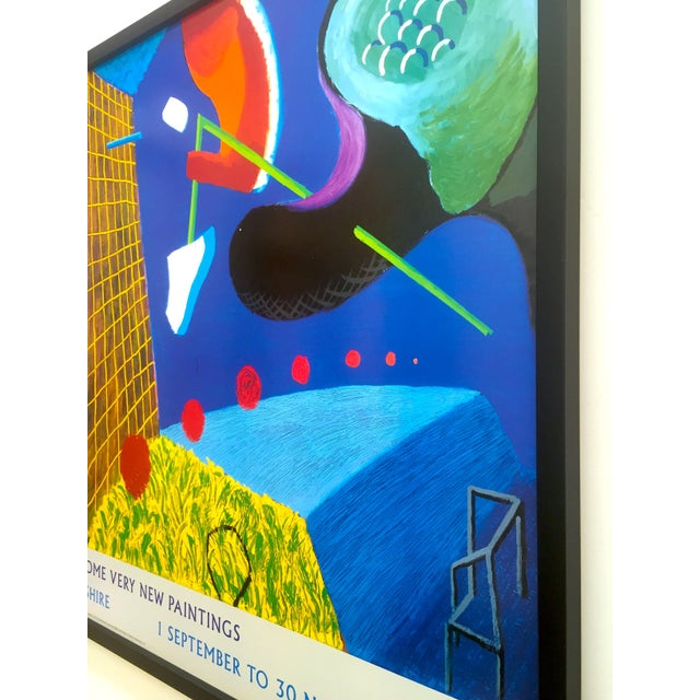 """David Hockney Rare Vintage 1993 """" the Other Side """" Lithograph Print Framed Collector's Pop Art Exhibition Poster For Sale - Image 11 of 13"""
