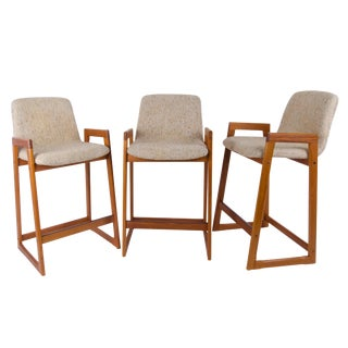 Danish Modern Tarm Stole Bar Stools - Set of 3 For Sale