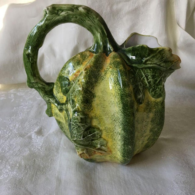 Italian 1970s Vintage San Marco Italy Harvest Pumpkin Pitcher For Sale - Image 3 of 9