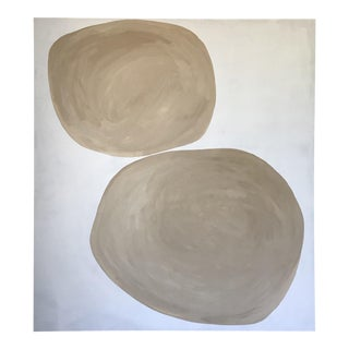 Rounded Abstract Oversized Painting For Sale