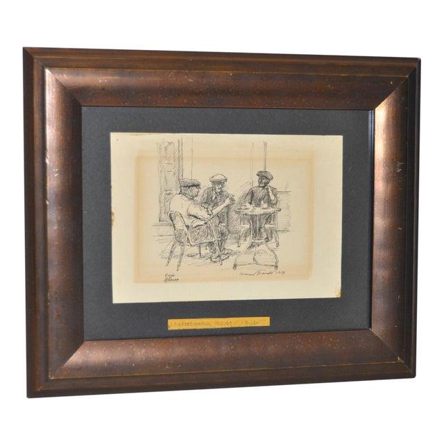 Original Pen & Ink Drawing by Warren Brandt For Sale