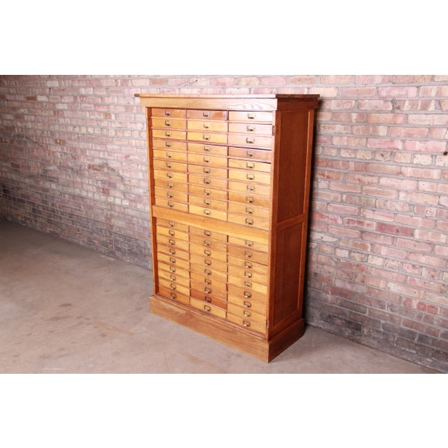 Antique Oak 57-Drawer Cabinet, Circa 1920s For Sale - Image 13 of 13