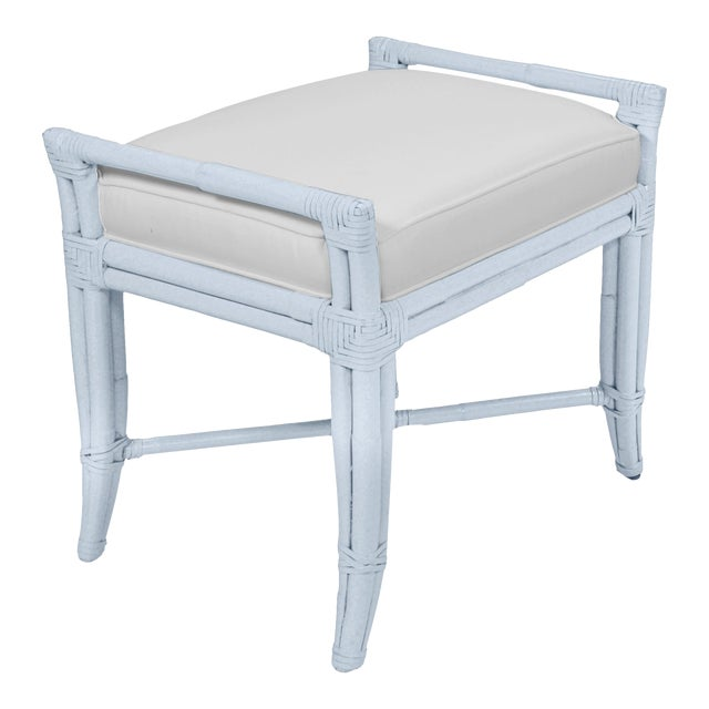 Small Malacca Bench - Blue For Sale