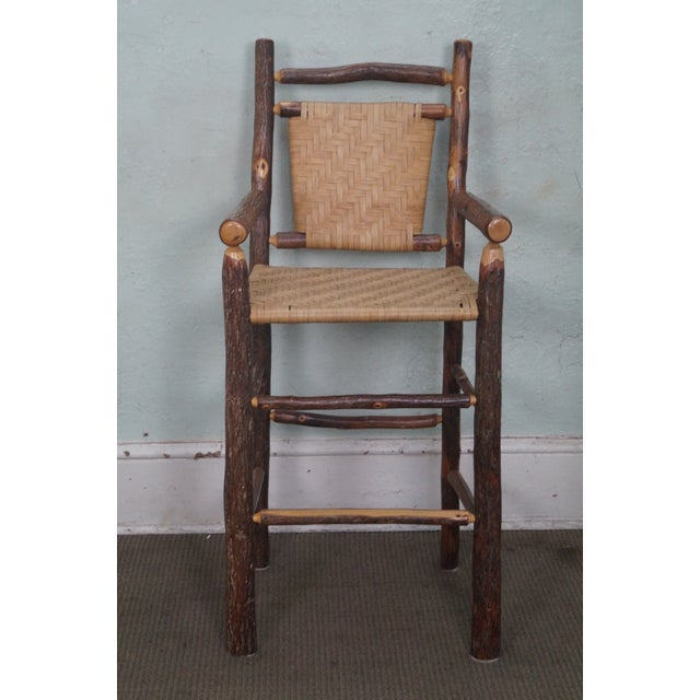 Old Hickory Rustic Barstools - Set of 3 - Image 5 of 10