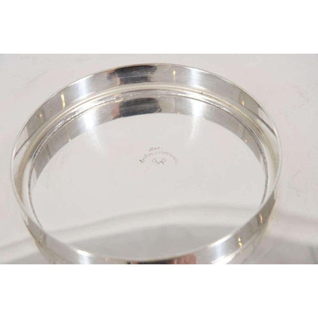 1950s Tommi Parzinger for Dorlyn Silver Plate Serving Tray For Sale - Image 5 of 8