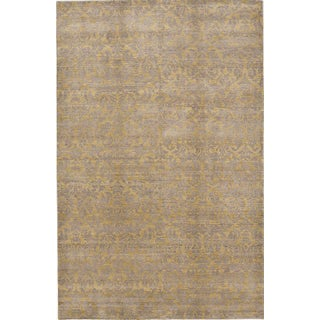 """Hand-Knotted Contemporary Rug - 6'x 9'5"""" For Sale"""