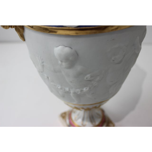 Antique 19th Century Sevres Style Urns - a Pair For Sale In West Palm - Image 6 of 13