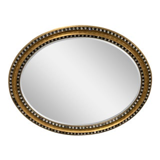 Mirror Fair Nyc Oval Wood Irish Mirror With Crystals For Sale