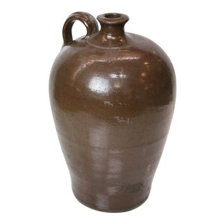 Rustic Brown Pottery Jug For Sale
