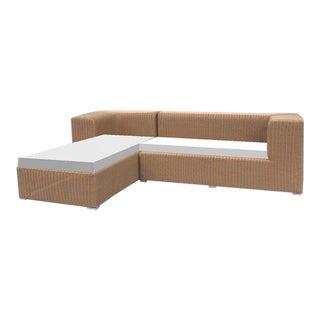 Gambrell Renard Outdoor Shadow Sofa Chaise For Sale