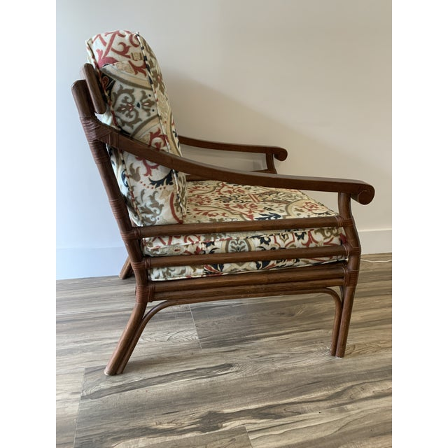 English Vintage Mid-Century British Colonial Style Chair For Sale - Image 3 of 13