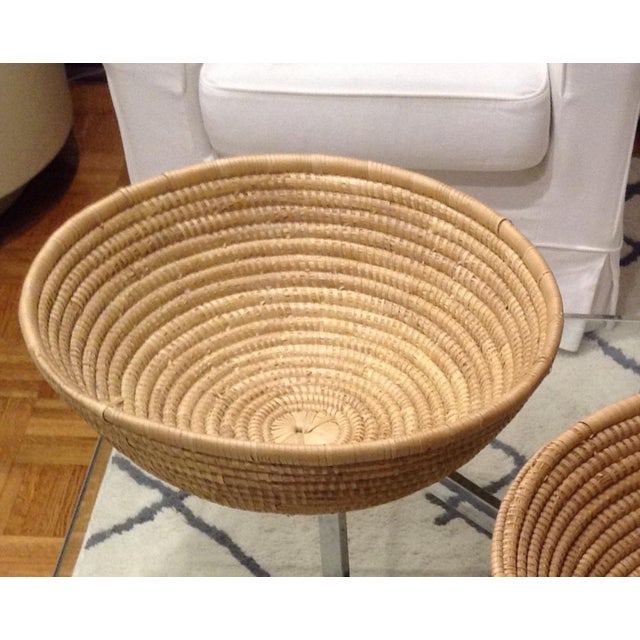 Vintage Handwoven Baskets- a Pair - Image 4 of 4