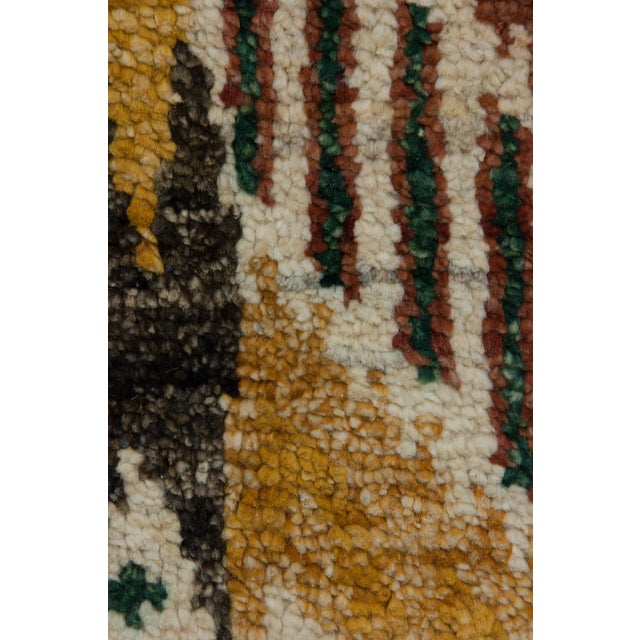 """New Ikat Hand Knotted Area Rug - 4' x 6'3"""" - Image 3 of 3"""