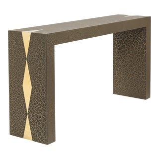 The Crackle Console Table by Talisman Bespoke (Bronze and Gold) For Sale