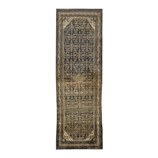 Antique Hamadan Persian Runner with Modern Traditional Style