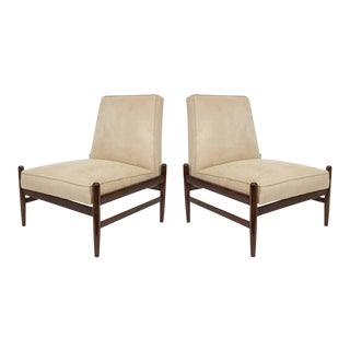 Liceu De Artes & Oficios Lounge Chairs in Jacarand - a Pair For Sale