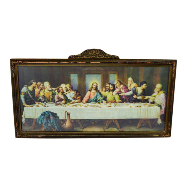 Early H. Zabateri Framed Last Supper Print - Image 1 of 10