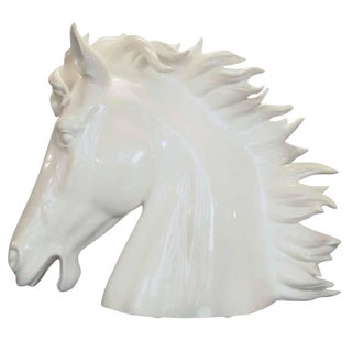White Ceramic Horses by Fabio Ltd For Sale
