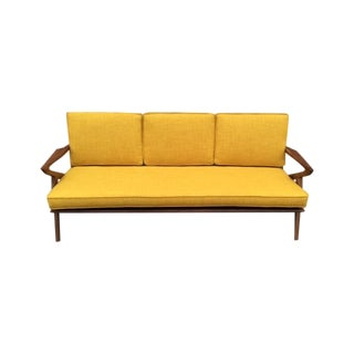 "Mid-Century Walnut ""Z"" Sofa"