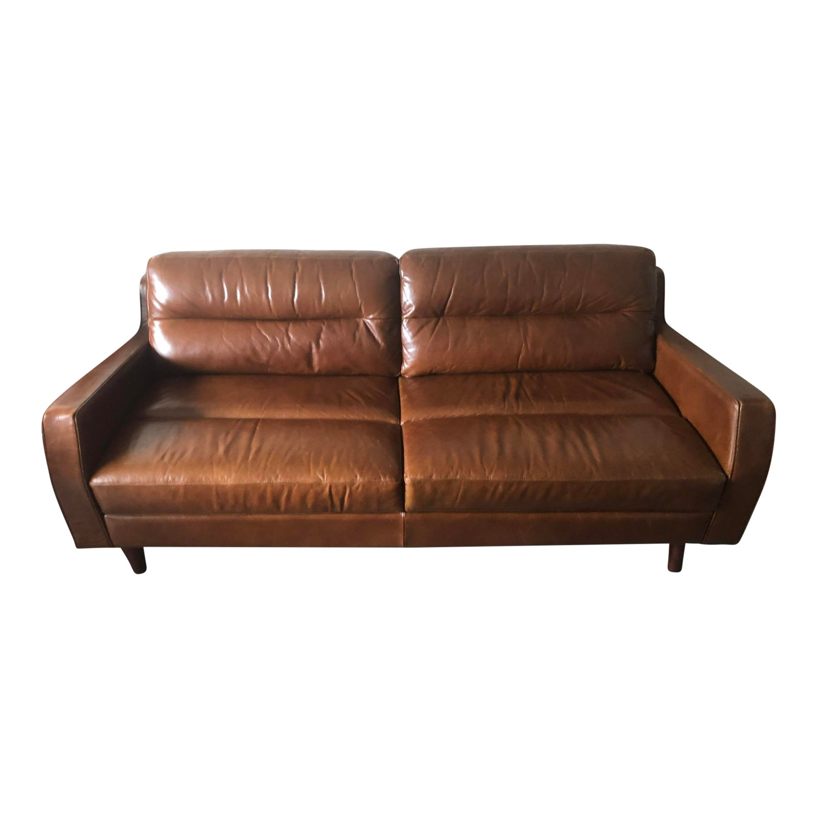 Moroni Contemporary Leather Sofa