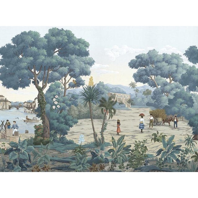 """Not Yet Made - Made To Order Casa Cosima Bajan Mural - 4 Panels 144"""" W X 120"""" H For Sale - Image 5 of 5"""