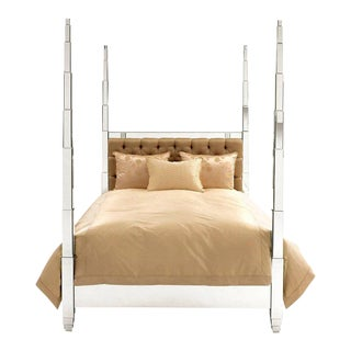Mirrored Prism Queen Bed Frame