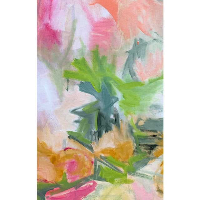 """""""Desert Rose"""" is an abstract oil painting on canvas by top selling Chairish artist, Trixie Pitts. The palette has a nice..."""