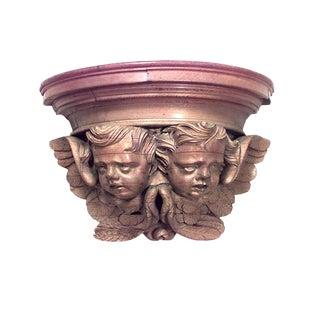 Louis XV Oak Cupid Wall Shelf For Sale