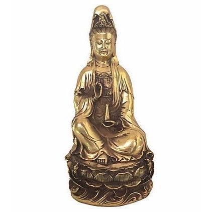 Quan Yin Brass Statue - Image 1 of 8