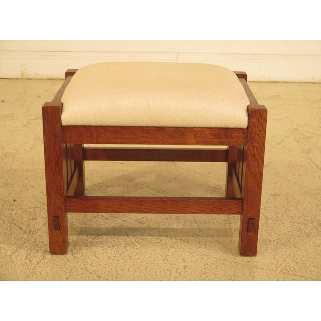 Stickley Mission Oak Arts & Crafts Ottoman - Image 9 of 9