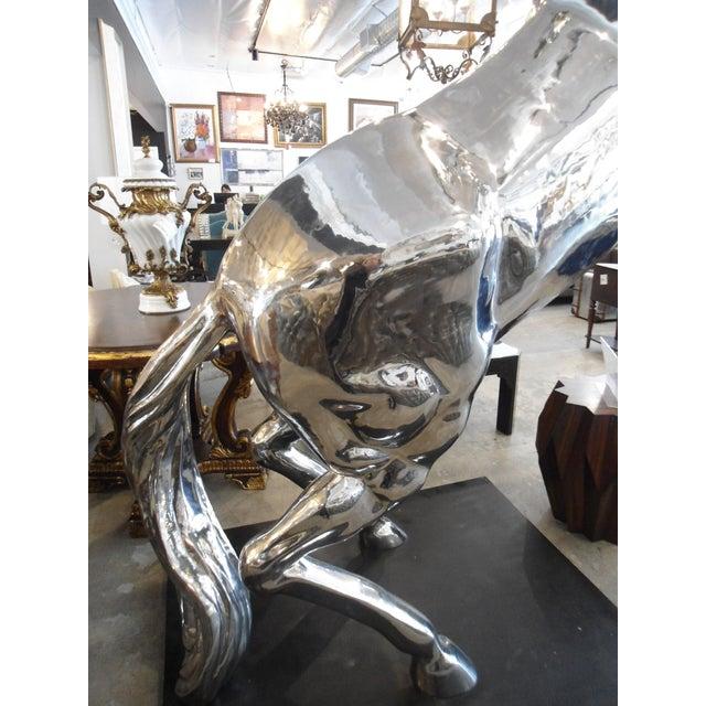 Life-Size Metal Stallion Sculpture - Image 5 of 6