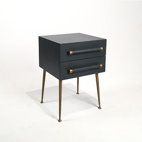 2-Drawer Nightstand with Wicker Pull - Image 5 of 5