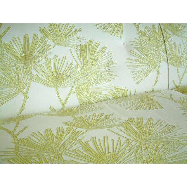 Circa 1950 Mid-Century t.h. Robsjohn-Gibbings Cream and Green Custom Wan Sofa - Image 4 of 9